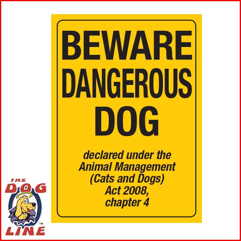 Dangerous Dog Sign Qld