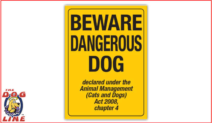 Dangerous Dog Sign – QLD