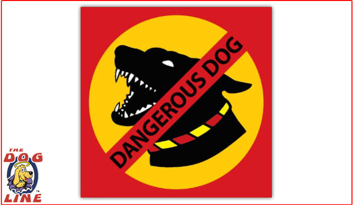 Dangerous Dog Sign – VIC - Metal