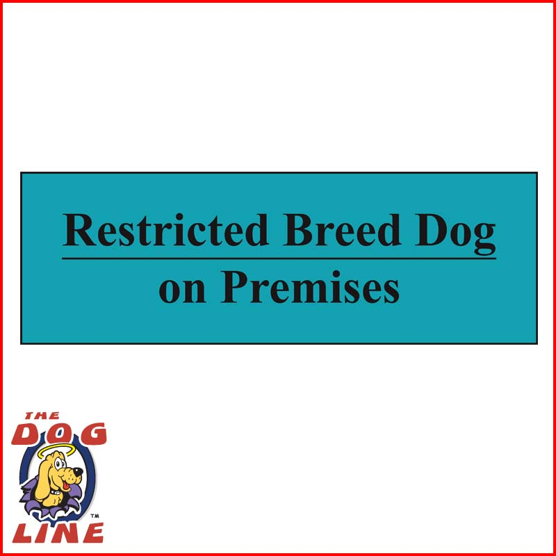 Restricted Dog Sign – VIC