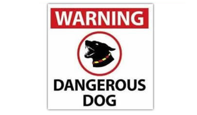 Dangerous Dog Sign – NSW