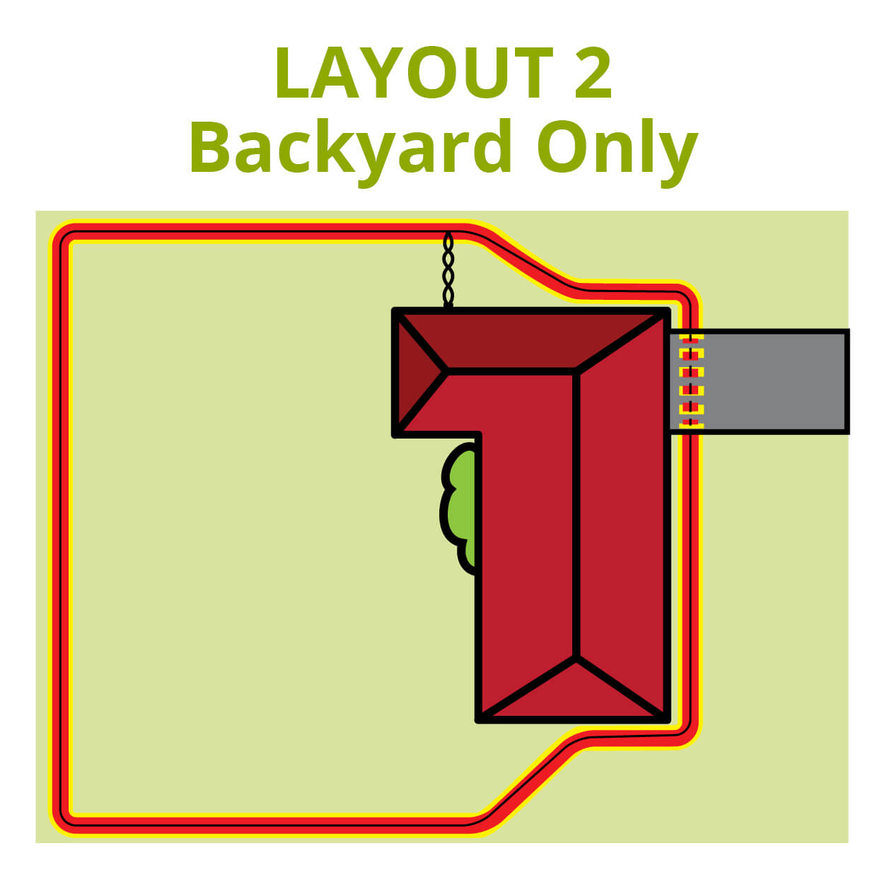 Dog Fence Backyard Escaping Layout