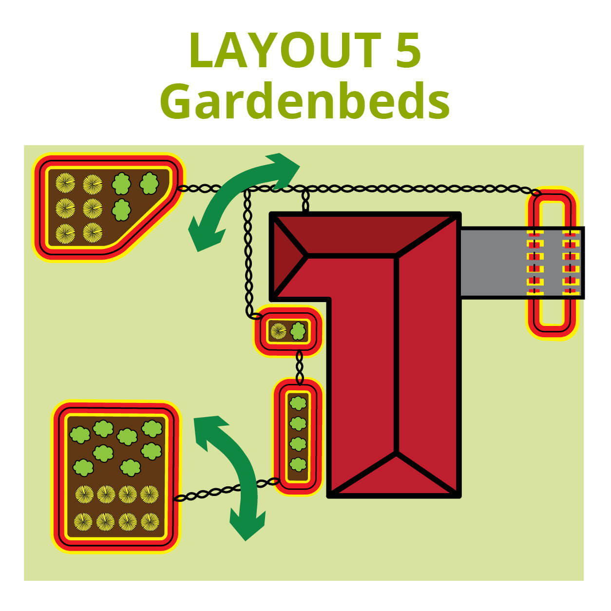 Dog Fence Garden Gate Layout