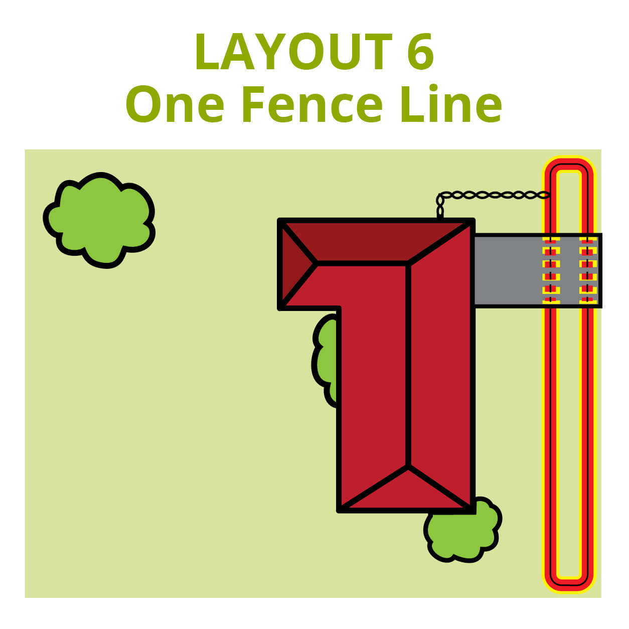 Dog Fence Front Yard Layout