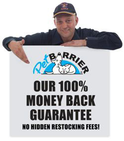 Pet barrier money back guarantee